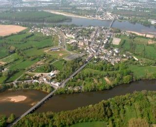 Les pays de la Loire vue hélicoptère